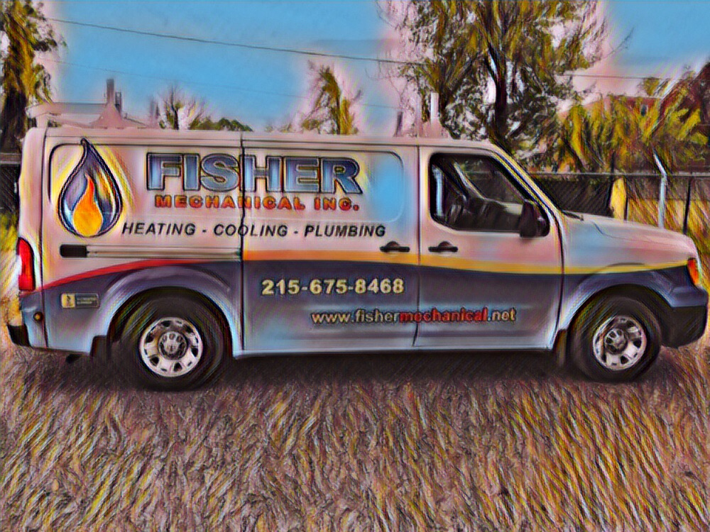 Fisher Mechanical Plumbing Heating and Air Conditioning Service Truck